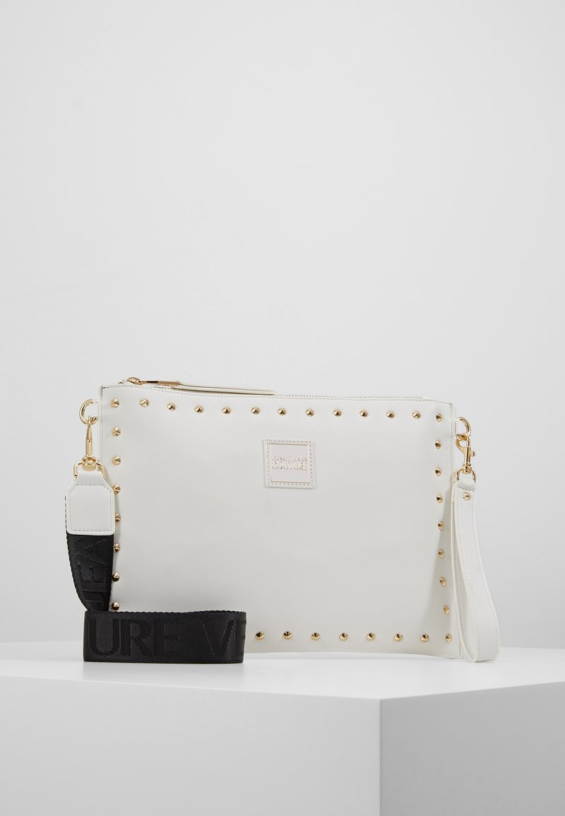 Versace Jeans Couture - STUDDED POUCH ON STRAP - Clutch - white