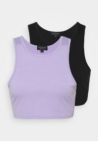 South Beach Petite - SUSTAINABLERACER TANK 2 PACK - Top - black/lilac - 0