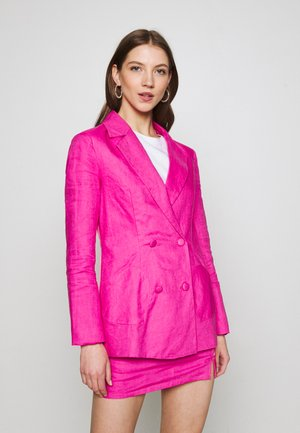LINEN HEART POCKET - Blazer - pink