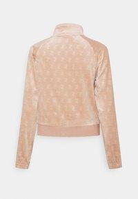 Juicy Couture - EMBOSSED TRACK - Zip-up sweatshirt - warm taupe - 1