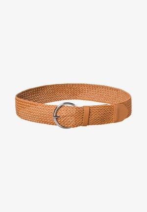 Braided belt - gold cognac