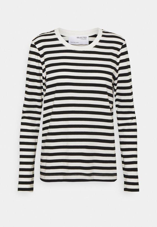 SLFSTANDARD TEE  - Maglietta a manica lunga - black/bright white