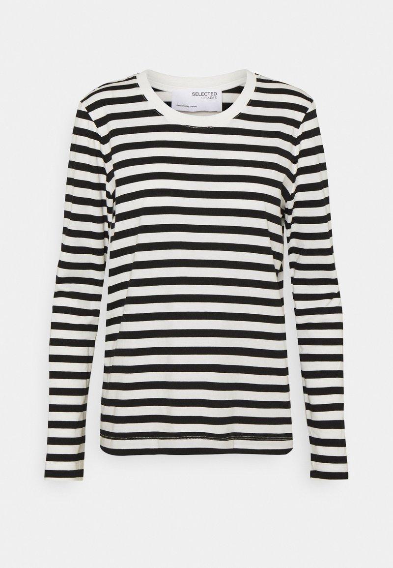 Selected Femme - SLFSTANDARD TEE  - Top sdlouhým rukávem - black/bright white