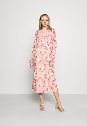TIE STRAP OVERLAP DRESS - Day dress - rose