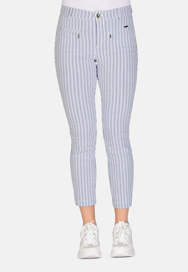 Broek - blue white stripe