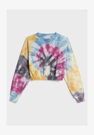 IN TIE-DYE-OPTIK - Sweatshirt - blue denim
