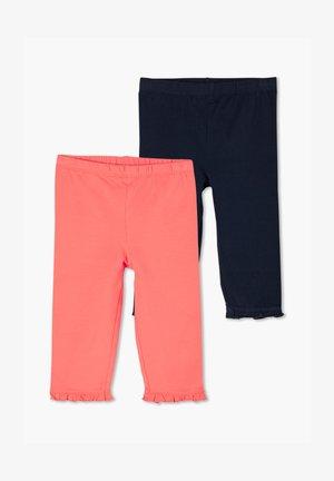 2 PACK - Leggings - Trousers - coral/navy
