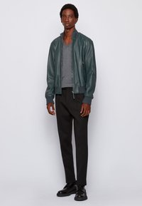 BOSS - NEOVEL - Leather jacket - light green - 1