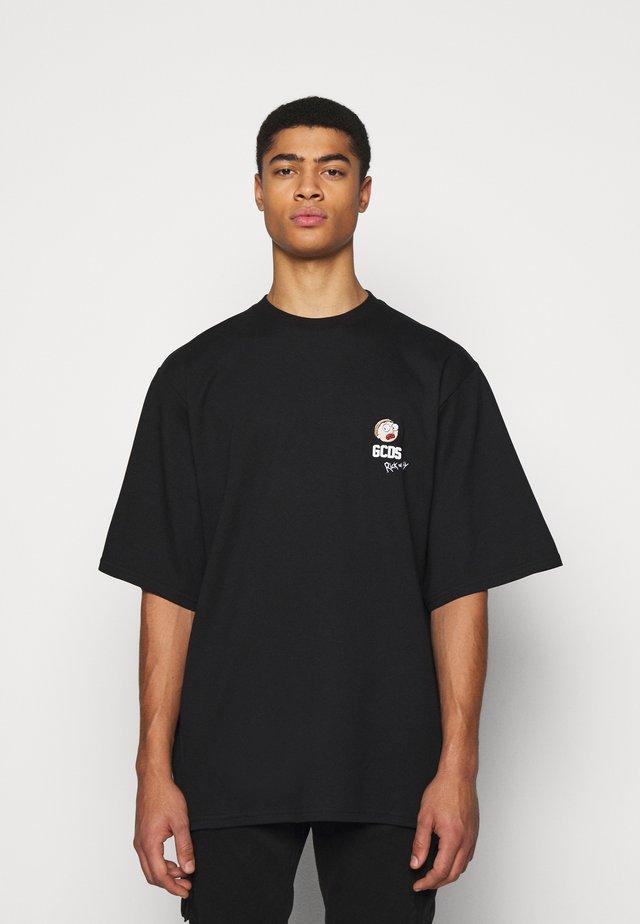 OVERSIZE TEE - T-shirts med print - black