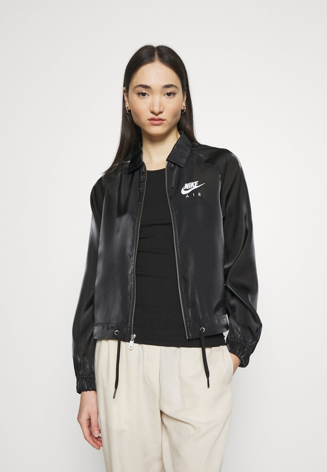 AIR SHEEN - Summer jacket - black/white