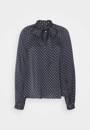 TIE BLOUSE - Button-down blouse - desert sky