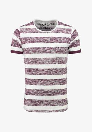 MT AIRFLOW  - Print T-shirt - white bordeaux