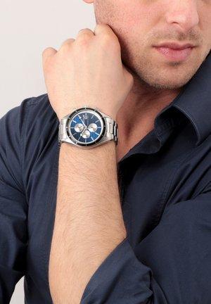 Chronograph watch - silber blau