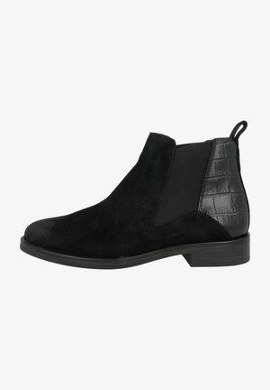 MEMI  - Ankelstøvler - black croc combi