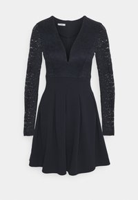 WAL G. - VIVTORIA PLUNGE SKATER DRESS - Cocktail dress / Party dress - navy blue - 4