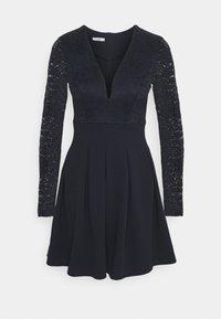 VIVTORIA PLUNGE SKATER DRESS - Robe de soirée - navy blue