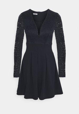 VIVTORIA PLUNGE SKATER DRESS - Cocktail dress / Party dress - navy blue