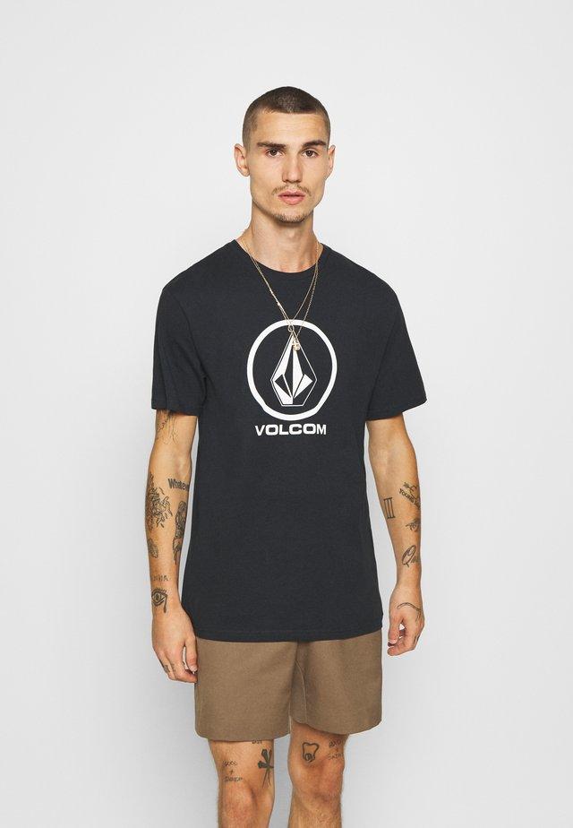 CRISP STONE - T-shirt imprimé - black