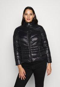 Vero Moda Curve - VMSORAYASIV SHORT JACKET CURVE - Light jacket - black - 0