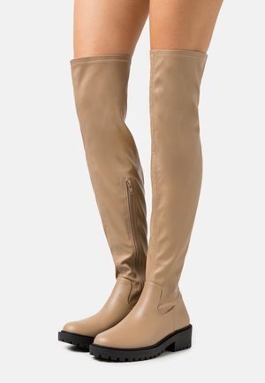 LUG SOLE BOOT - Overknee laarzen - taupe smooth
