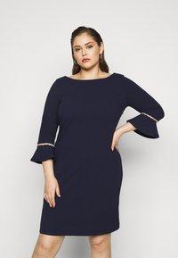 Anna Field Curvy - Pouzdrové šaty - evening blue - 0