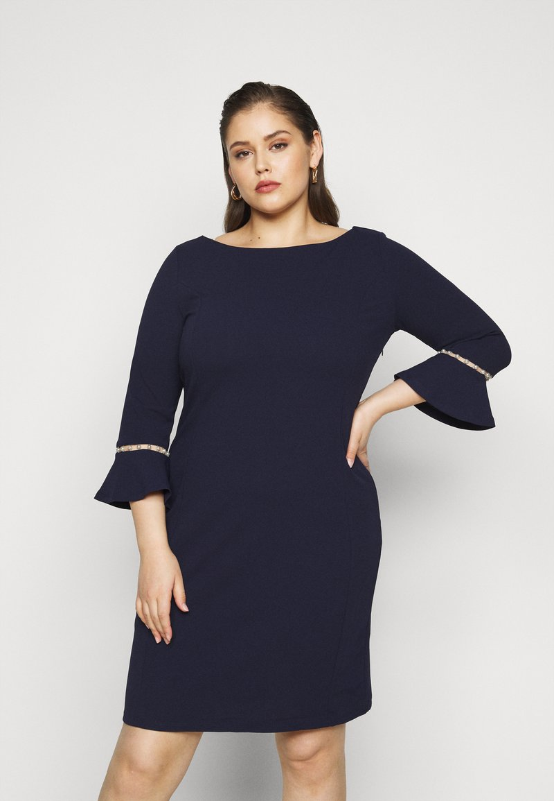 Anna Field Curvy - Pouzdrové šaty - evening blue