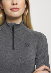 ODLO - TURTLE NECK HALF ZIP PERFORMA - Long sleeved top - grey melange - 5