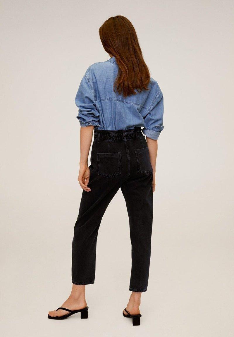 Mango SLOUCHY - Jeans Relaxed Fit - black denim DIR0nZ