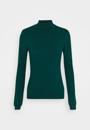 BASIC- TURTLE NECK - Strikkegenser - deep teal