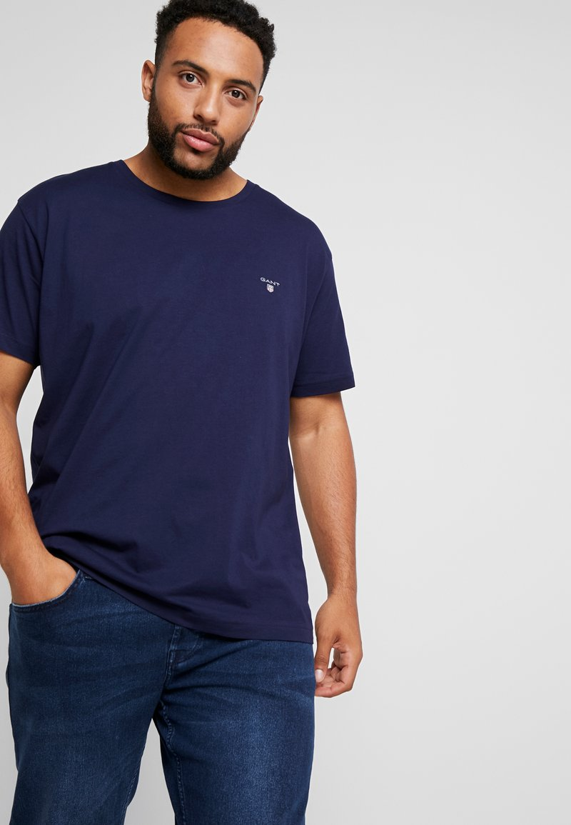 GANT - PLUS THE ORIGINAL - Basic T-shirt - evening blue