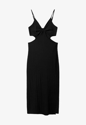 WITH CUT-OUT SIDES - Vapaa-ajan mekko - black