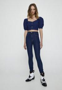PULL&BEAR - Jeans Skinny Fit - dark-blue denim - 1