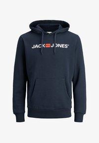 Jack & Jones - JJECORP LOGO HOOD - Luvtröja - navy blazer - 4