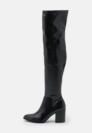 JACEY - Kozačky nad kolena - black