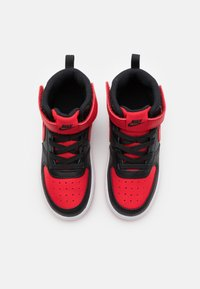Nike Sportswear - COURT BOROUGH MID UNISEX - Sneakers alte - black/university red/white - 3