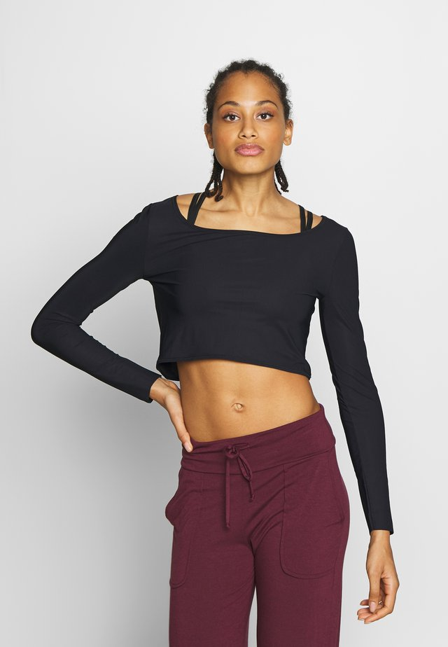 CROPPED DANCE - Long sleeved top - black