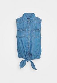 WAVE - Button-down blouse - denim