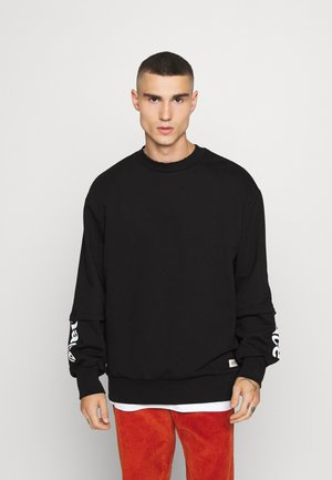 DISTRESSED LAYERED - Sweatshirt - black