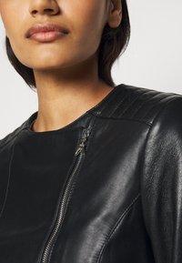 Patrizia Pepe - REAL JACKET - Leather jacket - nero - 6