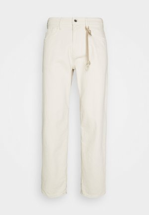 Pantalones - unbleached natural denim