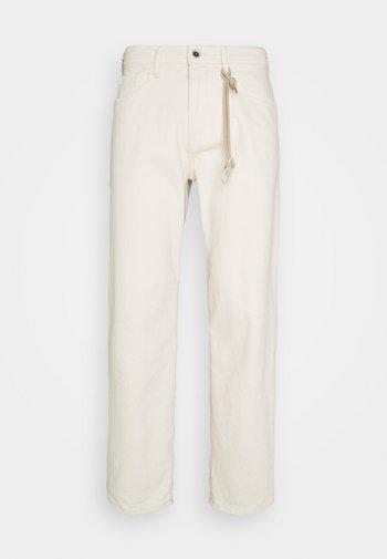 Spodnie materiałowe - unbleached natural denim