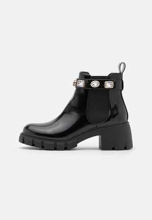 HONEYY - Platform ankle boots - black box