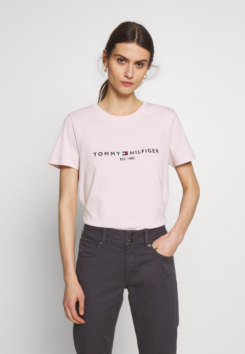 Tommy Hilfiger - NEW TEE  - Print T-shirt - pale pink