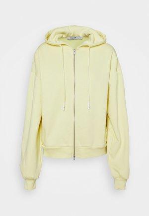 BALLOON SLEEVE ZIP UP HOODIE - Zip-up sweatshirt - yellow