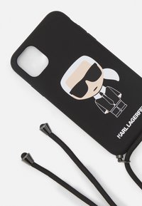 KARL LAGERFELD - IKONIK WITH CORD IP11 - Handytasche - black - 3