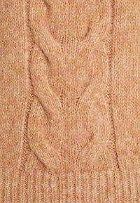 NA-KD - CABLE DETAIL HIGH NECK  - Jumper - orange melange - 2
