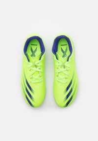adidas Performance - GHOSTED.4 FXG UNISEX - Moulded stud football boots - signal green/energy ink - 3