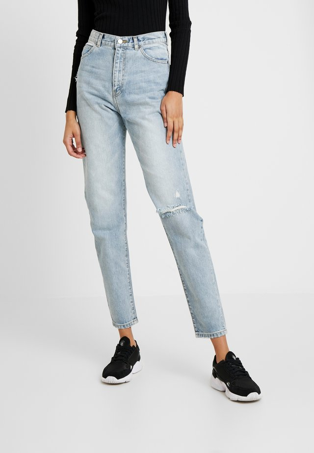 NORA - Relaxed fit jeans - downtown ripped blue