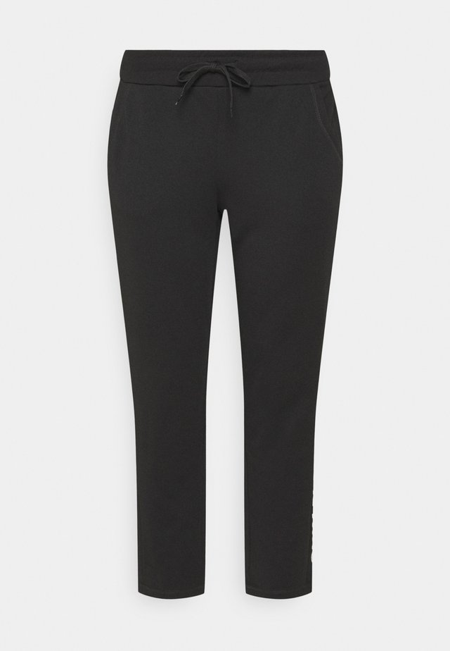 ONPNYLAH PANTS CURVY - Pantalon de survêtement - black/white