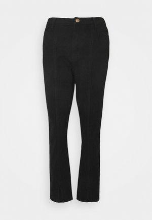 WRATH SPLIT FRONT HEM - Straight leg jeans - black